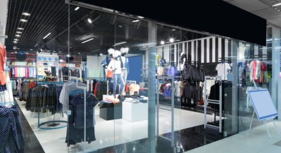 32342749 - bright and fashionable window of modern european store