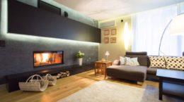 38015912 - modern fireplace in cozy luxury drawing room