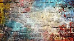 31127960 - graffiti wall background