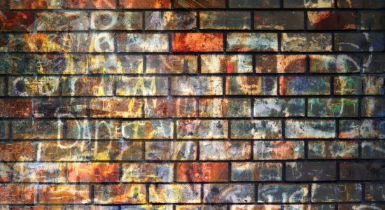 15104073 - graffiti wall, grunge background