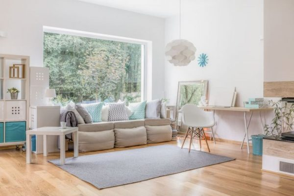 49422967 - cozy bright living room and big window